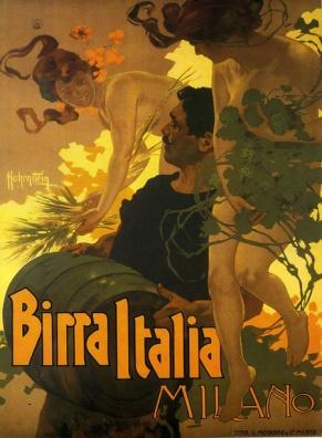 Adolfo Hohenstein. Birra Italia Milano (1906)